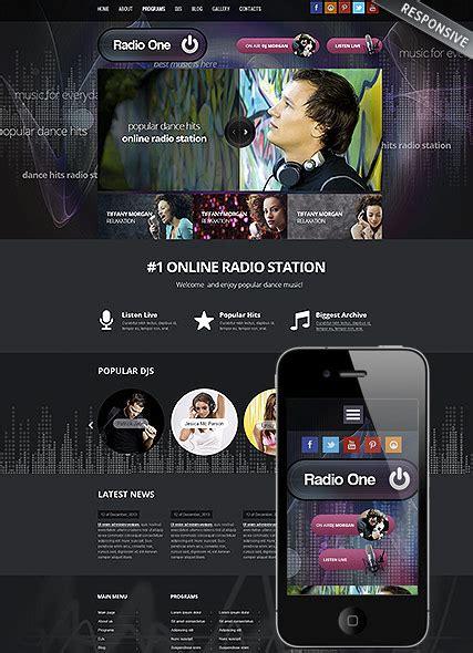 Radio One Online Radio Station Responsive Wordpress Template Free Radio Station Website Templates