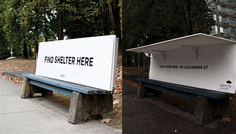 homeless bench vancouver ad caign turns bus benches into homeless shelters