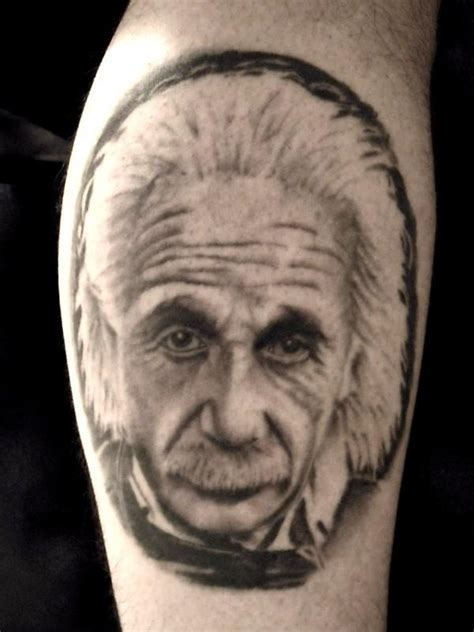 albert einstein tattoo unique portrait tattoos