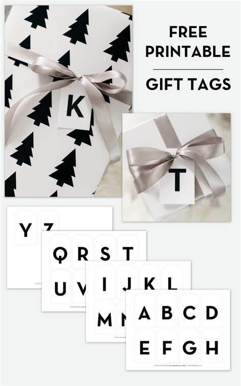 printable alphabet letter tags free printable modern alphabet gift tags the tomkat