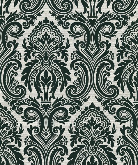 black damask wallpaper home decor apollo modern damask wallpaper in black by brewster home fashions burke decor