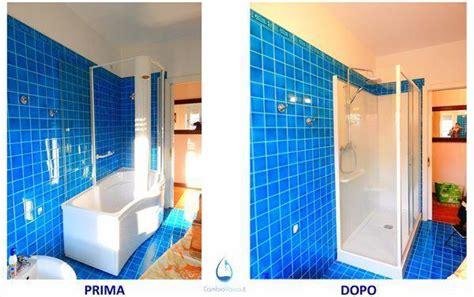 come trasformare la vasca da bagno in doccia sostituzione vasca con doccia