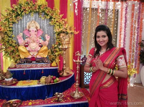 the actor ganesh song marathi actor actress ganpati festival celebration photos