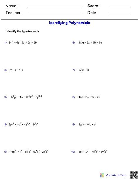 Adding And Subtracting Polynomials Worksheet by Adding And Subtracting Monomials Worksheet Knowledge
