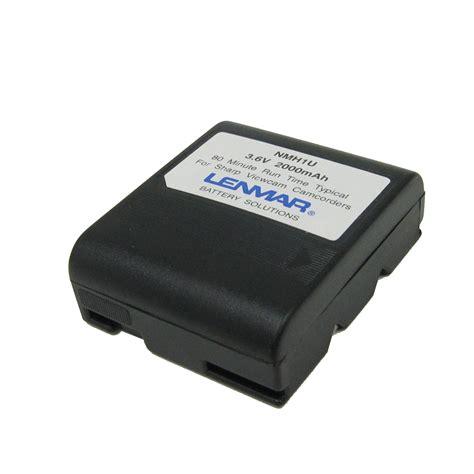 sharp camcorder battery charger lenmar camcorder battery nomem nimh for sharp bt h22u