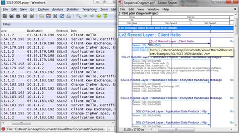 wireshark easy tutorial sequence diagrams from wireshark pcap visualether