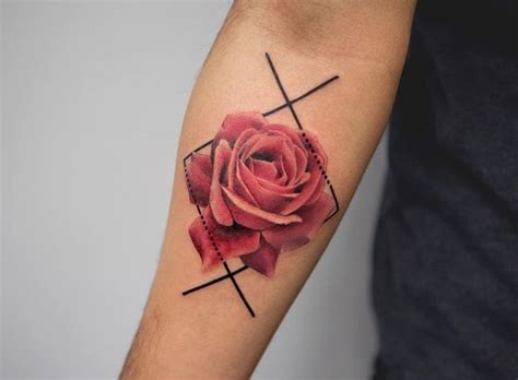 rose tattoo on guys for designs ideas and meaning tattoos