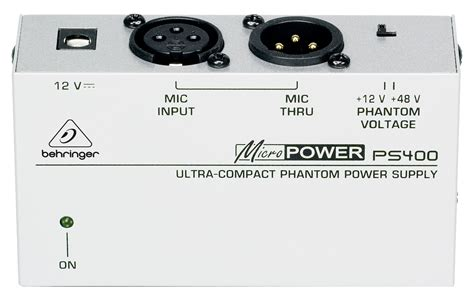 Behringer Ps400 Phantom Power For Microphone Condenser Mic Condensor Behringer Ps400 Ultra Compact Phantom Power Supply Ps400