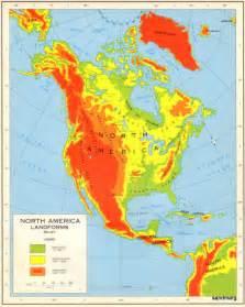 america landforms map 1965 american landforms