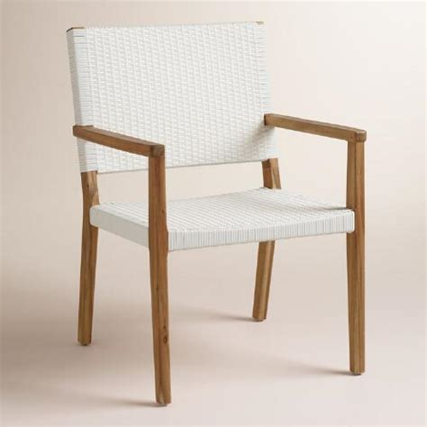 wood sirmione outdoor dining chair set of 2 world market