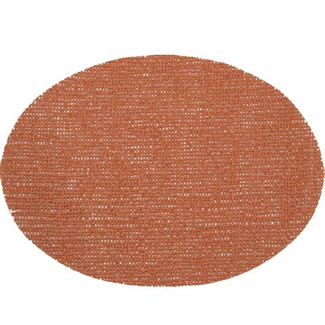 fishnet placemats 18 x 13 oval placemat cinnamon