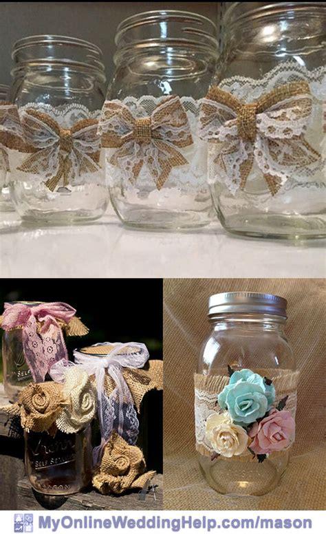 jar burlap centerpieces 19 jar centerpiece ideas for weddings my