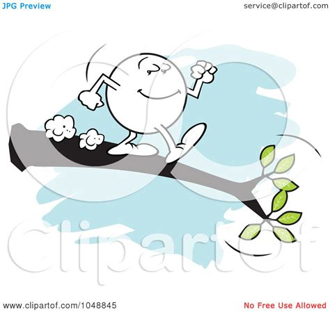 out on a limb free royalty free rf clip art illustration of a willing