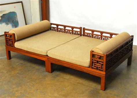 chinese futon chinese carved luohan daybed at 1stdibs