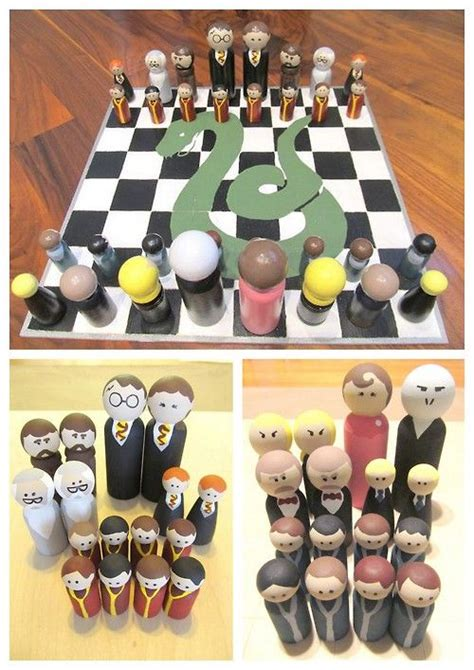 diy case for chess pieces chess com 13 best images about diy harry potter monopoly on