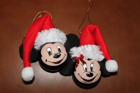 mickey mouse santa hat with lights shirley s mickey minnie mouse painted on a couple burnt