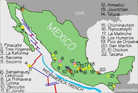 cadenas orograficas principales de mexico volcanes de m 233 xico