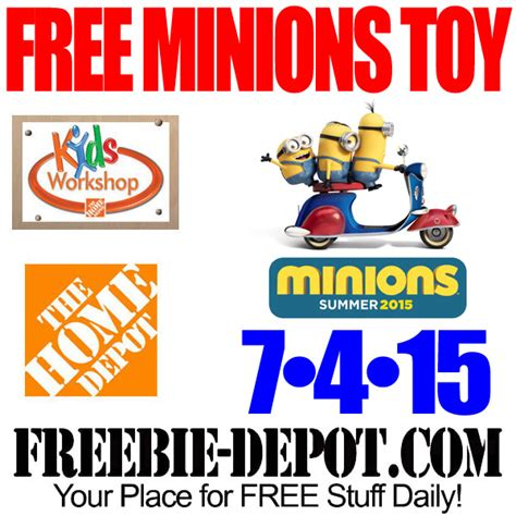 free minions scooter at home depot free kid workshop