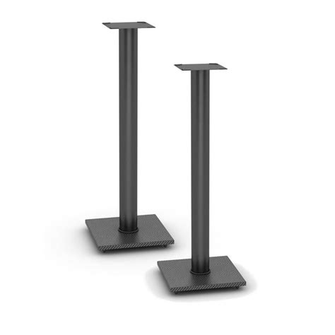 atlantic adjustable bookshelf speaker stand in black