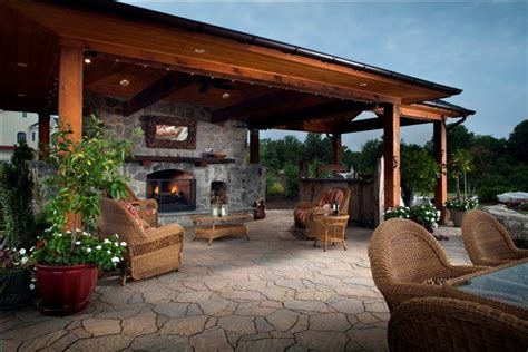 backyard designs idea with pool and outdoor kitchen landscaping gardening ideas