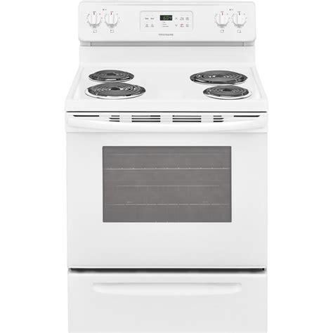 Stove With Oven frigidaire 30 in 5 3 cu ft single oven electric range with self cleaning oven in white