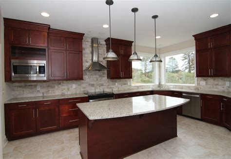 Cranberry Kitchen Cabinets Cranberry Stain Kitchen Cabinets Contemporary Kitchen Raleigh By Stanton Homes