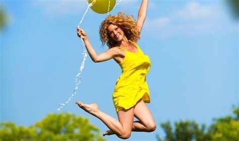 Carol Jump jumping for happiness carole rice columnists