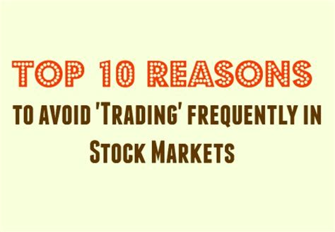 10 Reasons To Avoid Going To Bars by 10 Reasons To Avoid Term Trading In Stock Markets