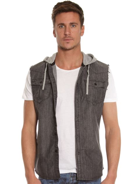 Tees With Vest st goliath sheldon vest shirt in black
