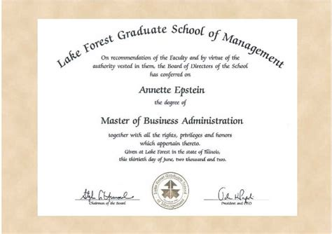 masters degree certificate template degree certificate template exle of letter of intent