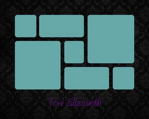 name template black damask 8x10 11x14 16x20 story board