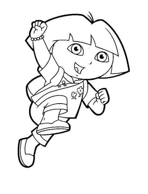 free coloring pages of diego dora