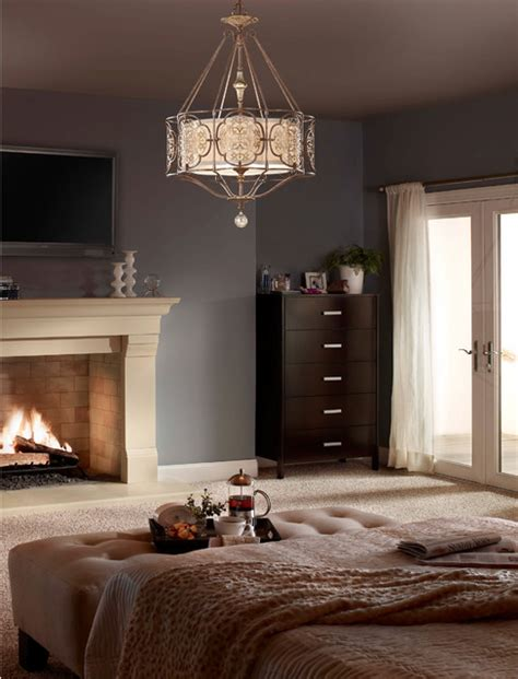 Bedroom Pendant Lighting Murray Feiss F2603 4brb Obz Marcella Bronze 4 Light Chandelier Mediterranean Bedroom
