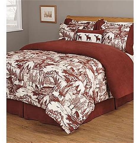 moose comforter set new elk moose red cabin woods comforter set king ebay