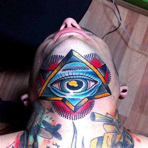 old school eye tattoo meaning old school eye chin tattoo by adrenaline vancity