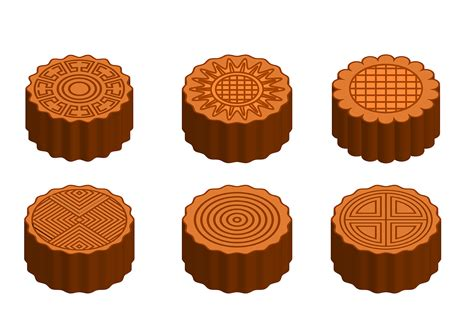 Moon Cake Bulat Pattern I free mooncake vector free vector stock graphics images