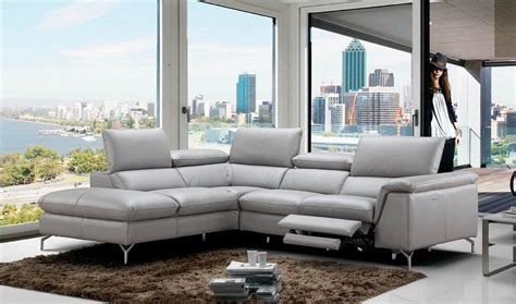 sectional free shipping gray leather sectional connor premium top grain grey