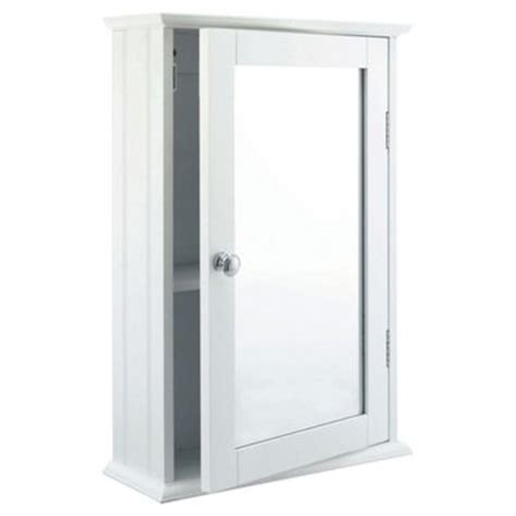 white mirrored bathroom wall cabinet buy southwold bathroom cabinet single mirror white wood