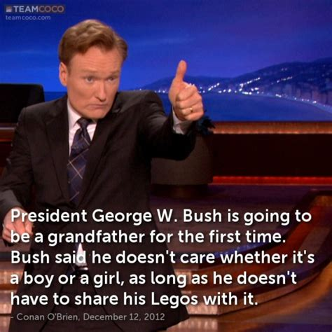 Bush Doesnt See The Humor by Joke President George W Bush Is Going To Be A Grandfat