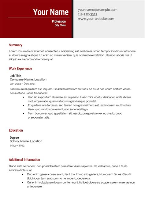 Effective Resume Templates by Free Resume Templates From Resume