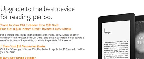Trade Gift Cards For Amazon Credit - amazon trade in your old e reader for gift card credit best ebook readers