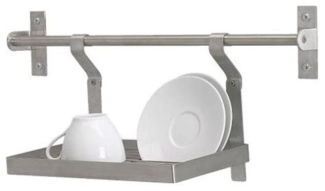 Wall Dish Drying Rack by Grundtal Wall Rack Dish Drainer Stainless Steel