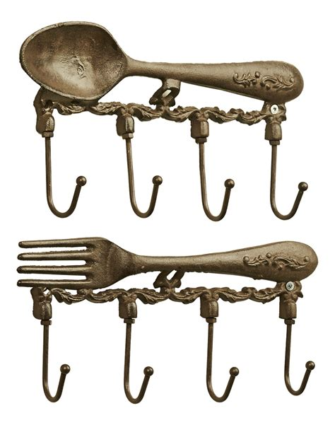 Wall Hooks Kitchen Fork And Spoon Hooks Kitchen Wall Decor 11 25 Inch