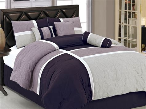 grey and purple comforter bedding sets