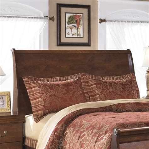 sleigh headboards ashley wilmington wood queen sleigh headboard in brown