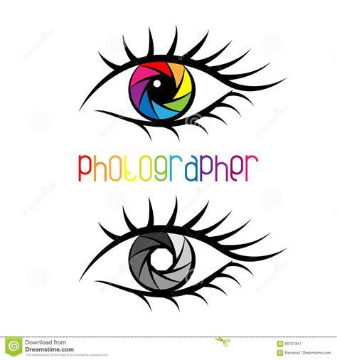 design studio logo vector templates camera shutter in eye design concept stock vector image