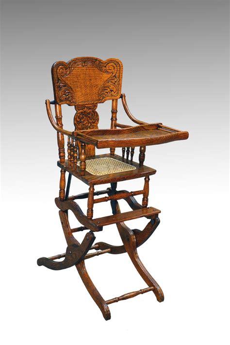 sold antique victorian oak press  rocker collapsible