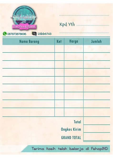 design nota jual nota bisa request design 10x14cm the duy shop