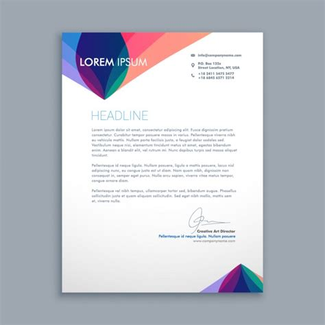 Creative Business Letter Vector Free Download Creative Letter Templates