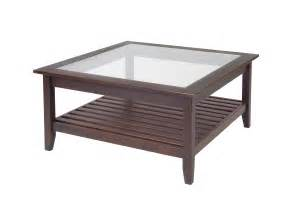 Coffee Table With Glass Top Finish Chestnut